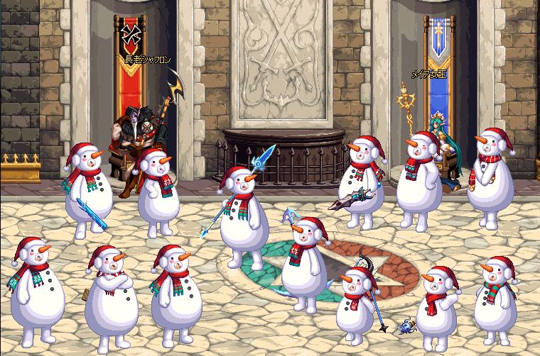 雪だるま着ぐるみアバター着用イメージ