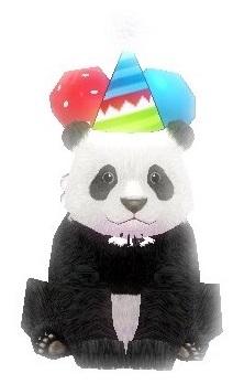 とんがり帽子パンダ